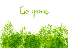 Green leaves border. For Your design Stock Image