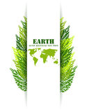 Green leaves Earth background Stock Photography