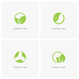Green leaves and ecology logo Stock Image