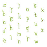 Green Leaves font. Royalty Free Stock Photography