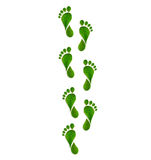 Green leaves footprint Royalty Free Stock Photography