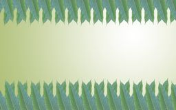 Green leaves frame in the background of beautiful gradient Royalty Free Stock Photo
