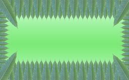 Green leaves frame on the background of beautiful gradient Royalty Free Stock Photography