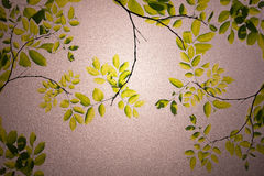 Green leaves frosted glass texture as background Stock Images
