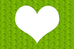 Green leaves in heart shape Royalty Free Stock Photography