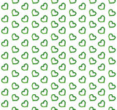 Green leaves heart symbols pattern Royalty Free Stock Photo