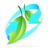 Green Leaves Icon Royalty Free Stock Photography