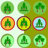 Green leaves icon. Set of gree leaves icon Royalty Free Stock Images