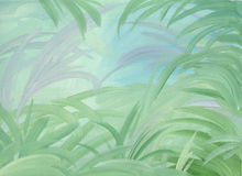 Green leaves illustrated background Royalty Free Stock Images