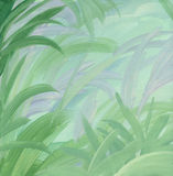 Green leaves illustrated background Stock Image