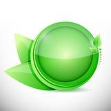 Green leaves illustration design Stock Photos
