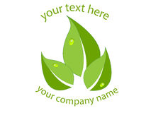 Green leaves logo Stock Image