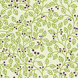 Green leaves ornament. Seamless pattern with green leaves ornament Stock Images