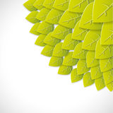 Green leaves paper background Royalty Free Stock Images