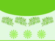 Green leaves pattern. Green leaves and flowers pattern Stock Illustration