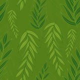 Green leaves pattern. Seamless vector texture. Royalty Free Stock Photos