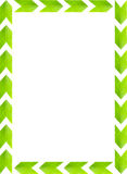 Green leaves picture frame with white background, copy space Stock Images