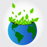 Green leaves planet Royalty Free Stock Image