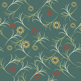 Green  leaves seamless background. vector design illustration. Stock Images