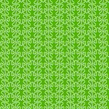 Green Leaves Seamless Old Wallpaper. Leafs waving lines forming abstract waves with green background victorian wallpaper. Seamless texture background pattern Royalty Free Stock Photo