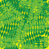 Green leaves of seamless pattern Stock Photos