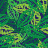Green leaves of seamless pattern Stock Image