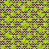 Green leaves seamless pattern background Stock Image