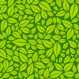 Green leaves seamless pattern background vector illustration