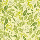 Green Leaves Seamless Pattern Background Royalty Free Stock Images
