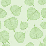 Green leaves, seamless Royalty Free Stock Image