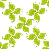 Green leaves seamless pattern. Vector design Royalty Free Stock Photos