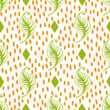 Green leaves seamless pattern Stock Photo