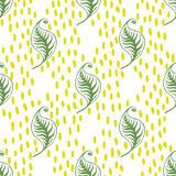 Green leaves seamless pattern. Stock Image