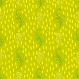 Green leaves seamless pattern Stock Images
