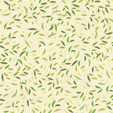 Green leaves seamless pattern. Vector Stock Image