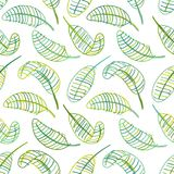Green leaves, seamless pattern for your design Stock Image