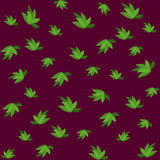 Green leaves seamless pattern for your wallpaper design. Stock Photos