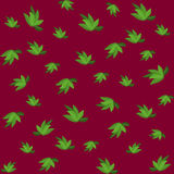Green leaves seamless pattern for your wallpaper design. Stock Image