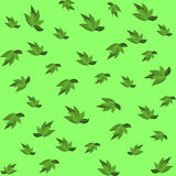 Green leaves seamless pattern for your wallpaper design. Royalty Free Stock Image
