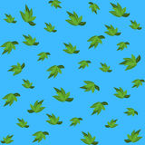 Green leaves seamless pattern for your wallpaper design. Royalty Free Stock Photos