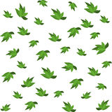 Green leaves seamless pattern for your wallpaper design. Royalty Free Stock Photography
