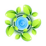 Green Leaves showing Eco Symbol Stock Photos