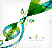 Green leaves spring nature design concept Royalty Free Stock Photo