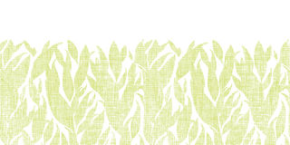Green leaves textile texture horizontal seamless Stock Images