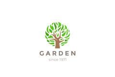 Green Leaves Tree Logo design vector.  Stock Photo