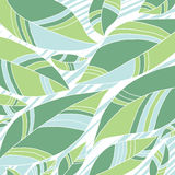 Green leaves. Vector background with fresh leaves Stock Images