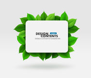 Green leaves vector frame. Vector illustrated frame with green leaves Royalty Free Stock Photography