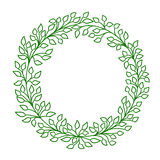 Green leaves. vector frame Royalty Free Stock Photography