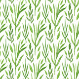 Green leaves watercolor seamless pattern. Hand paint background. Can be used for wrapping and package design. Royalty Free Stock Images