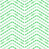 Green leaves watercolor vector seamless pattern Stock Image